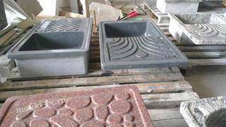 процесс изготовления кухонной мойки из натурального гранита