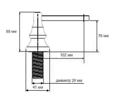 встраиваемый дозатор для жидкого моющего средства бронза